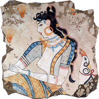 The Saffron Goddess fresco