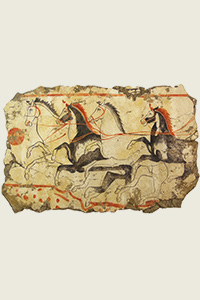 horse art wall equine fresco